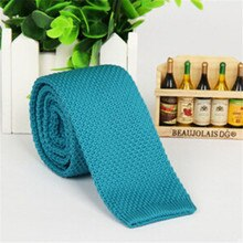 Collier tricoté pour hommes   Cravate mode unie, cravate étroite, Slim, tissé