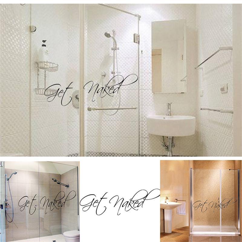 取得裸ビニール壁引用符浴室洗面所の装飾家の装飾の壁画装飾壁ステッカーステッカーデカール