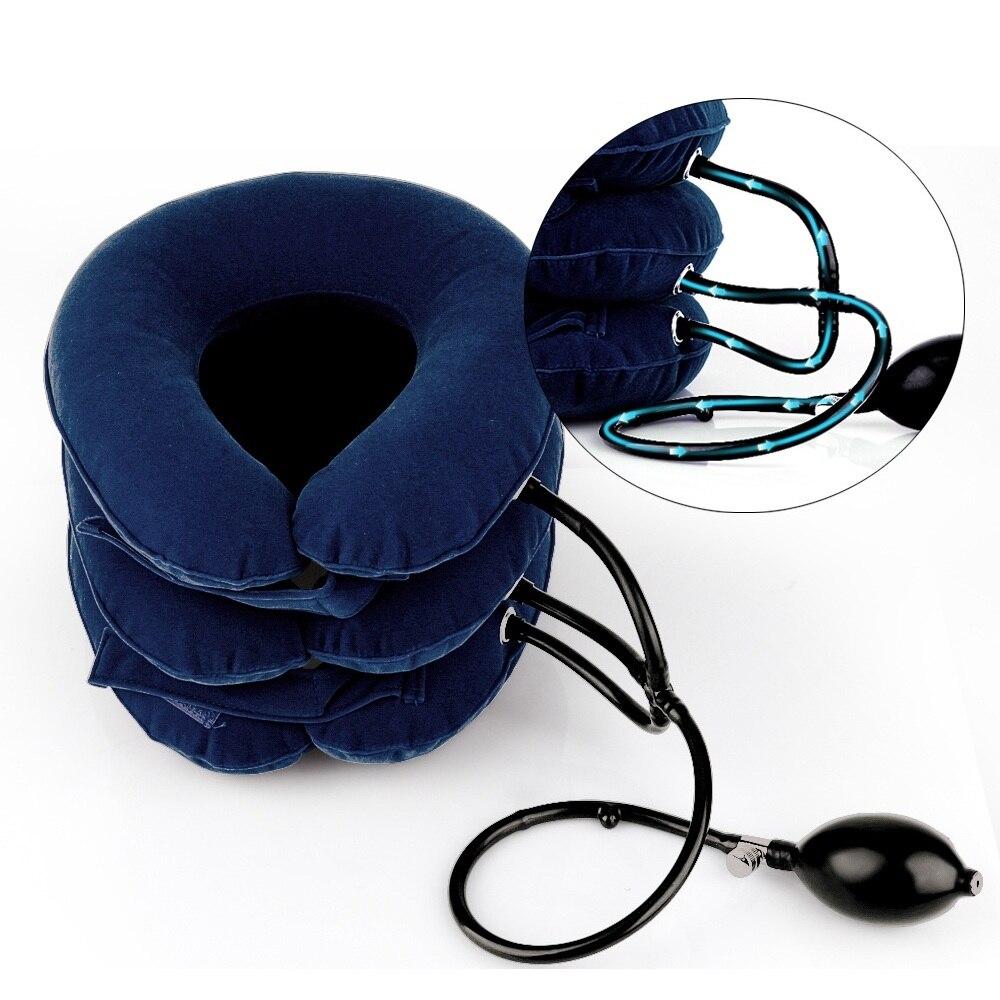 Cervical cuello tracción médico corrección Cervical apoyo Corrector de postura cuello Camilla relajación collar inflable