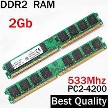 DDR2 2Gb 533Mhz Ram 533 2Gb Ram Ddr2 Voor Amd Of Voor Intel Memoria 2Gb Ddr2 ram Enkele/Ddr 2Gb Geheugen Ram PC2-4200 Pc 4200