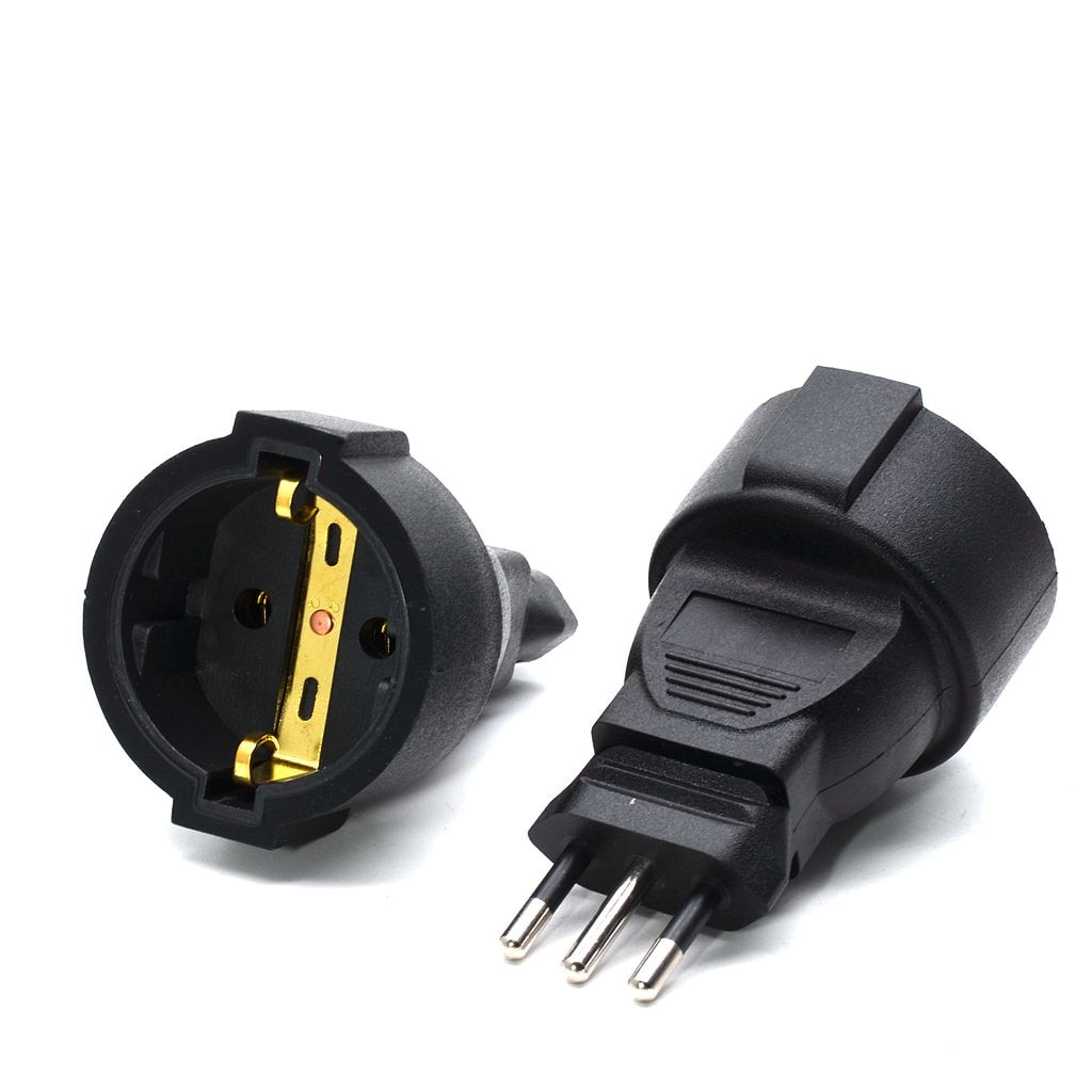 1PC embedded interface Germany German European Euro EU to Italy power plug socket Italy Travel plug Connector converter