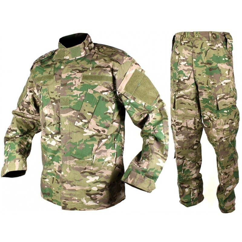 CQC Outdoor Tactical Airsoft Military Army BDU Uniform Combat Shirt & Pants Set Paintball Hunting Clothing Multicam us army military uniform for men custom combat shirt