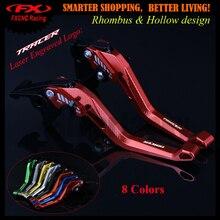 3D design (Rhombus Hollow) Red CNC Adjustable Motorcycle Brake Clutch Lever For Yamaha MT-07 MT-09 MT-10 TRACER 2014-2017