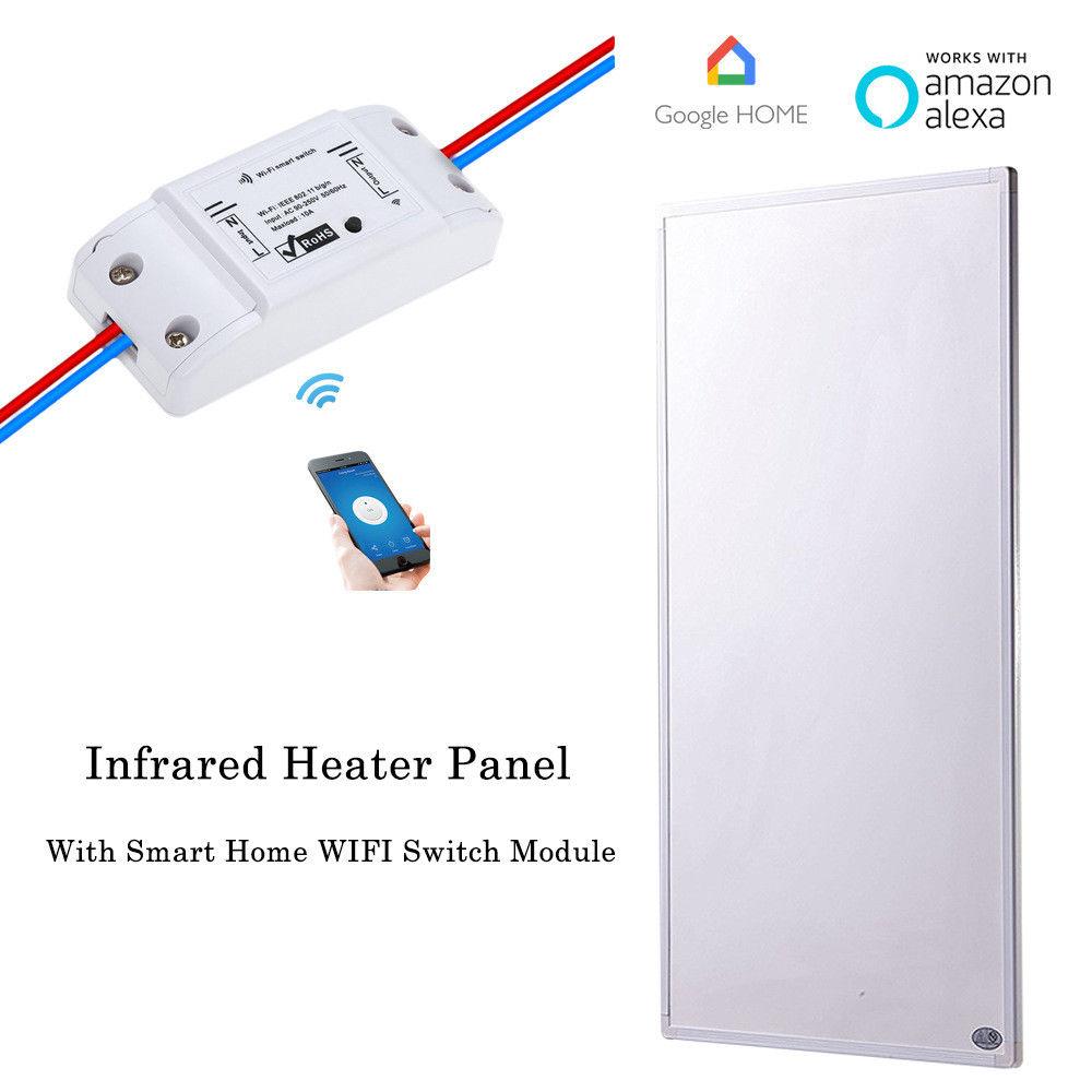 Control de interruptor inalámbrico Wifi Panel calentador infrarrojo hogar inteligente 600W
