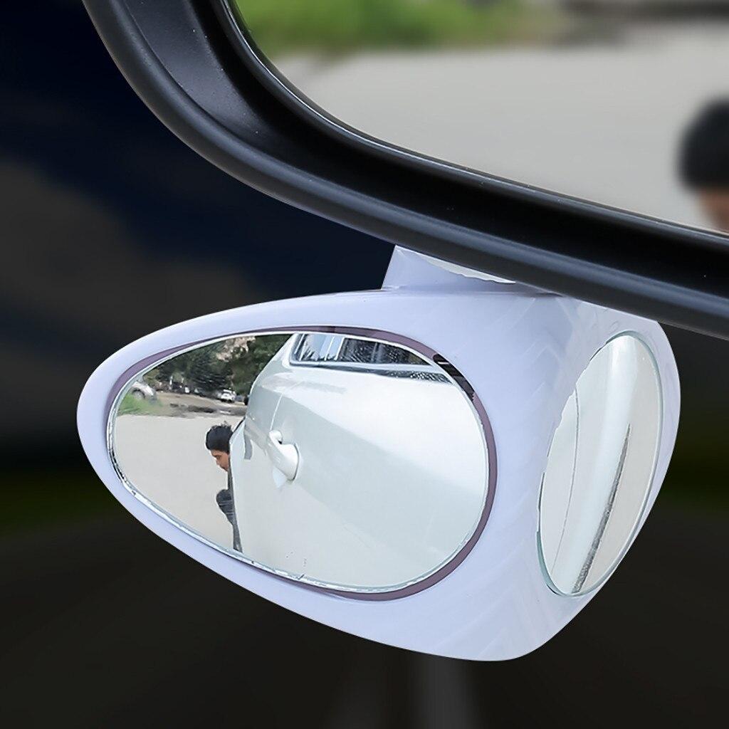 Coche visión doble auxiliar espejo ajustable espejo retrovisor auxiliar de espejo de...