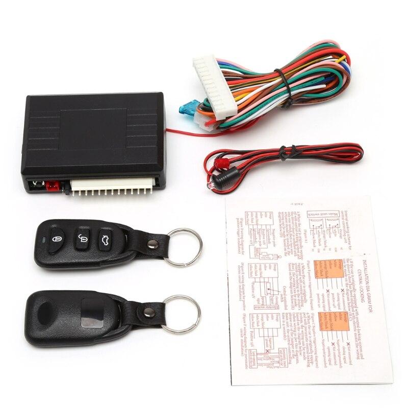 Universal cerradura de la puerta del coche vehículo sistema de entrada sin llave Kit Central de Control remoto w/caja de Control Jy22 19 dropship