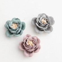 Mini fleur pour cheveux 3cm   Accessoires pour cheveux, fleurs artificielles en tissu pour bandeaux avec stamen pour enfants filles