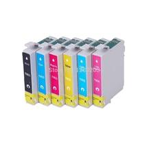 Vilaxh 1 set T0811 Cartouche Dencre pour Epson T50 R270 R390 RX590 R290 R610 RX690 TX700W TX800W imprimante Stylus photo r290 r270