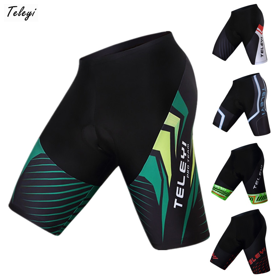 Teleyi 2019 carreras Deporte Pantalones cortos de Ciclismo Ropa Ciclismo verano mtb bicicleta pantalones cortos Coolmax 4D Gel Pad pantalones cortos de bicicleta de las Bermudas de Ciclismo