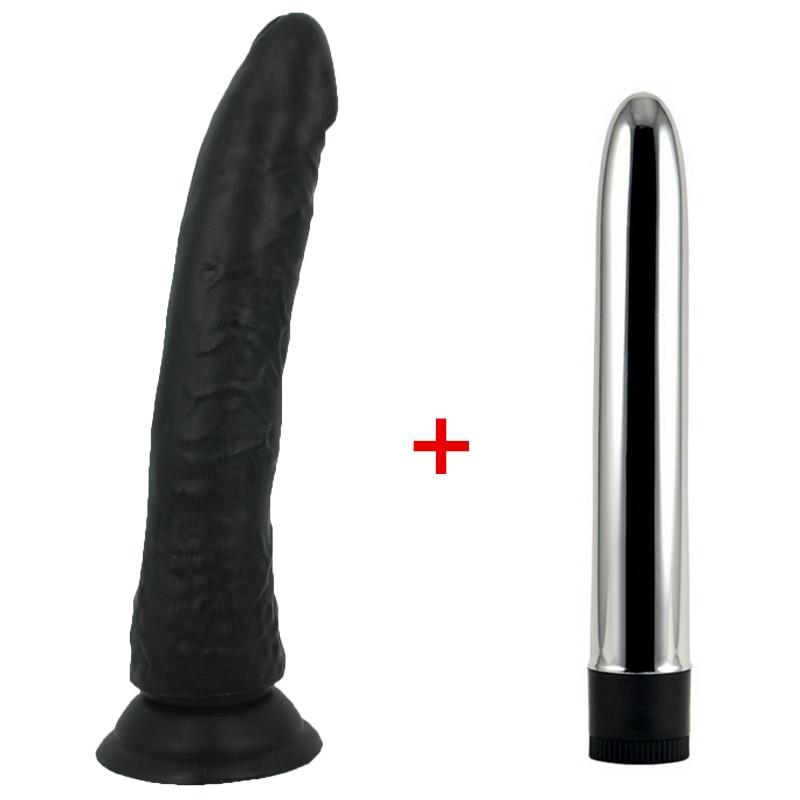 Negro Grande realista consolador fuerte succión Copa Anillo para el pene y velocidad múltiple fuerte Vibradores para mujeres, Juguetes sexuales para mujer tienda de sexo
