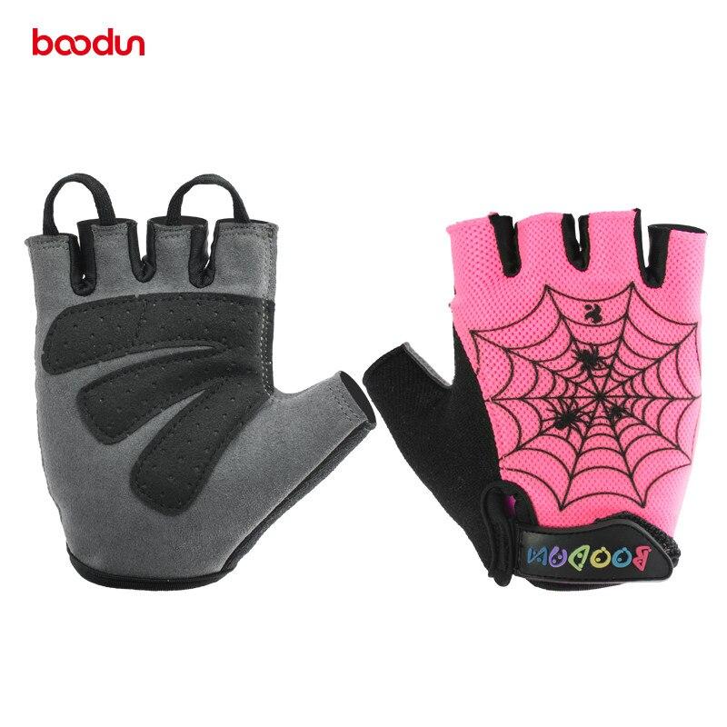 Boodun Children New Cycling Gloves Kids Half Finger Gloves Summer Anti Slip Gel Pad Gloves for Boys Girls Road Bike Riding