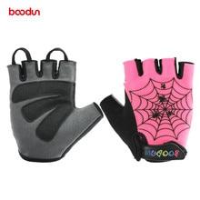 Boodun enfants nouveaux gants de cyclisme enfants demi doigt gants été anti-dérapant Gel Pad gants pour garçons filles vélo de route équitation