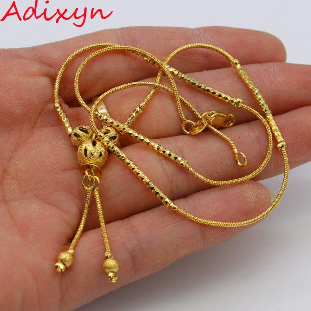 Adixyn or perle chaîne pour hommes femmes bijoux or couleur chapelet collier africain/éthiopien/Nigeria articles N012011
