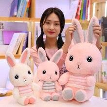 25/30/40cm Cartoon Cute Snowy Rabbit Soft plush toy big eyes Scarf sweater Stuffed doll Appease Animal Kawaii gift for child kid