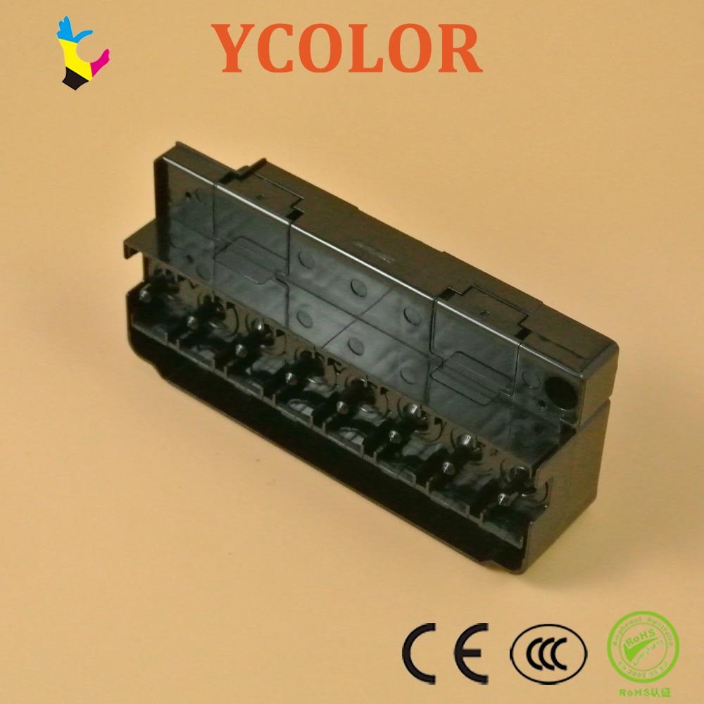 ¡Envío rápido! DX5 disolvente cabezal colector/Adaptador para Epson R1900 R2880 R2000 solvente para cabezal de impresión cubierta