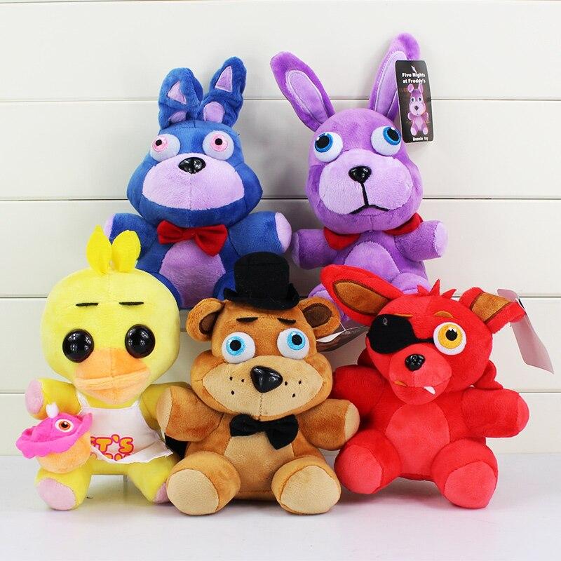Cinco noches en el 4 FNAF de Freddy Foxy Freddy Fazbear oso juguetes de peluche muñeca 20-25 cm juguetes de peluche 5 uds