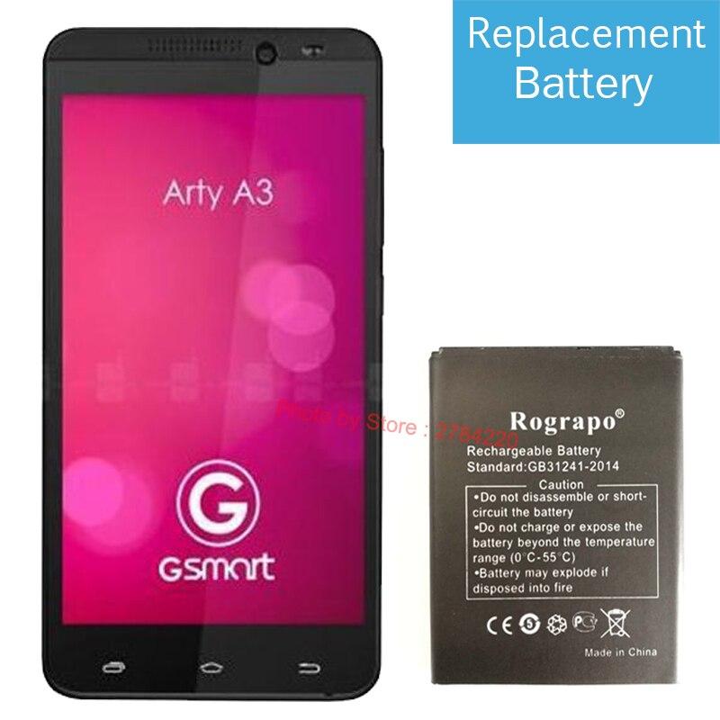 Новый Сменный аккумулятор 2000 мАч, аккумуляторы для Gigabyte GSmart Arty A3, аккумуляторы для мобильных телефонов