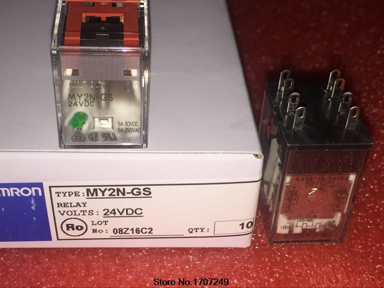 10 teile/los neue original OMRON relais MY2N-GS-DC24V MY2N-GS-24VDC 5A 8PIN Ersetzen das alte modell MY2N-J-DC24V MY2N-J-24VDC