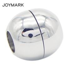 2mm 3mm 4mm 5mm 6mm trou taille lisse et mat boule ronde en acier inoxydable fermoirs magnétiques bijoux accessoires BXGC-094