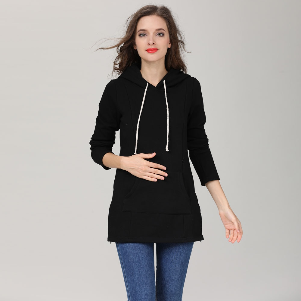 Emotion Moms New Winter pregnancy Maternity Clothes tops for Pregnant Women Breastfeeding Hoodie sweater Maternity tops enlarge