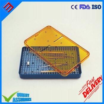 "Plastic Medical Dental Instrument Tray Size 6.5"" x 4"" x 0.75"""
