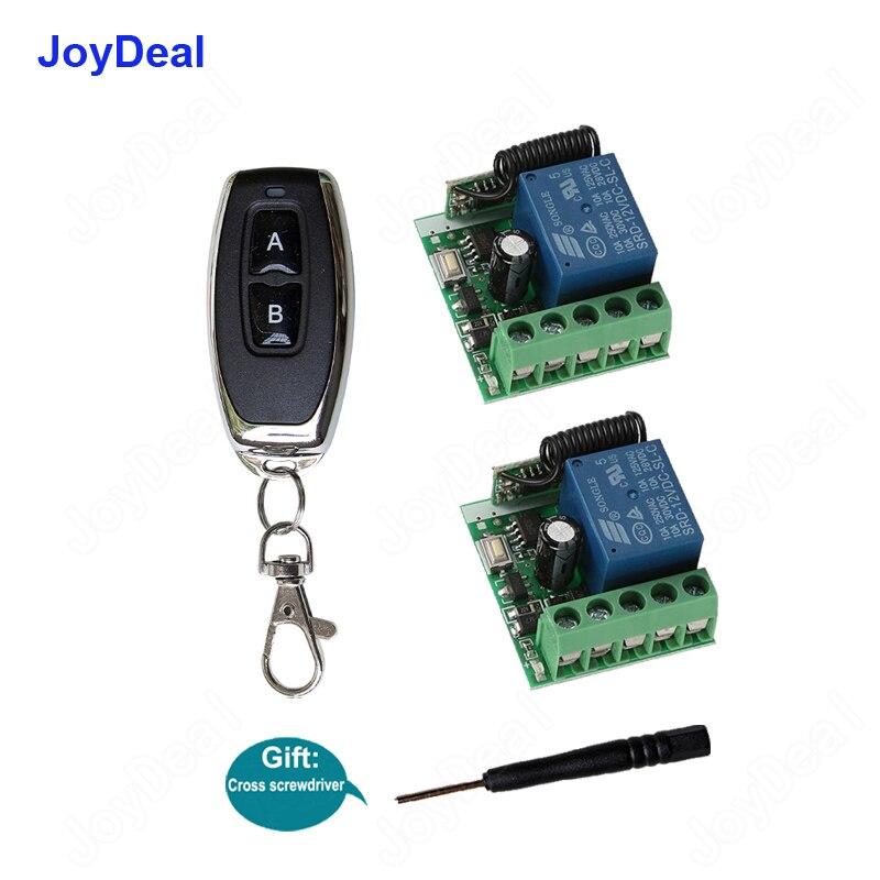 433Mhz Universal DC 12V 10A 1CH receptor de interruptor de Control remoto inalámbrico RF módulo y TRANSMISOR DE RF Control de bloqueo electrónico Diy