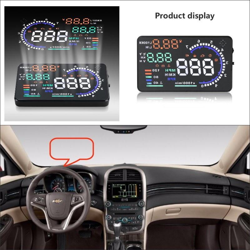 Para Chevrolet Malibu/Silverado 2015 2016-Pantalla de conducción segura coche HUD Head Up pantalla proyector de reposición parabrisas