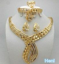 ZuoDi Комплект украшений из Дубаи, золотой красочный комплект украшений, женский костюм, комплекты ювелирных изделий для свадьбы в нигерийском стиле, модные комплекты ювелирных изделий с африканскими бусинами