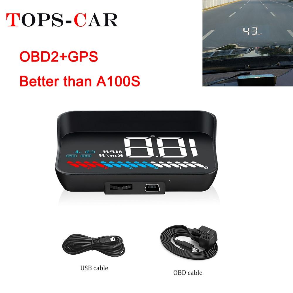 2019 New M7 GPS HUD Car OBD2 HUD Head Up Speed Display OBD On-board Computer Overspeed Warning