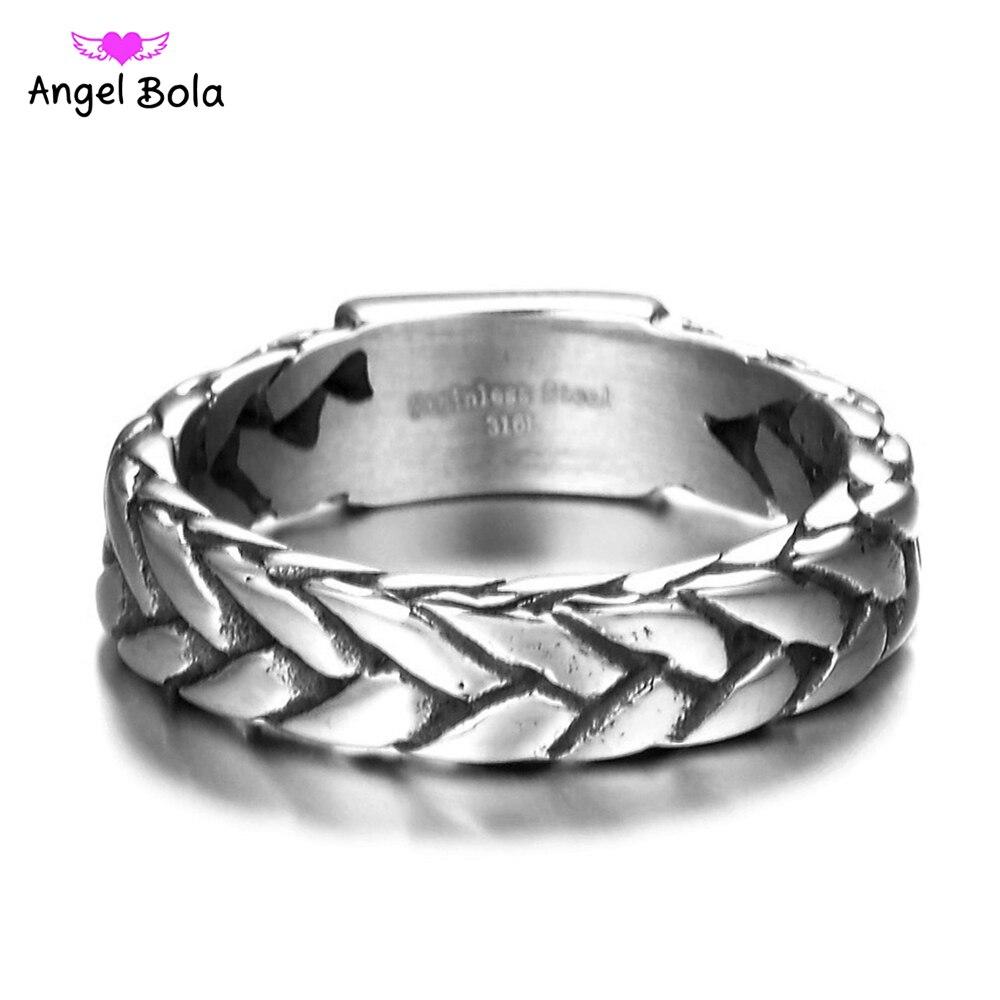 Кольцо Будда из титана и нержавеющей стали в стиле ретро, панк, байкерские украшения, широкое кольцо с цепочкой-0118