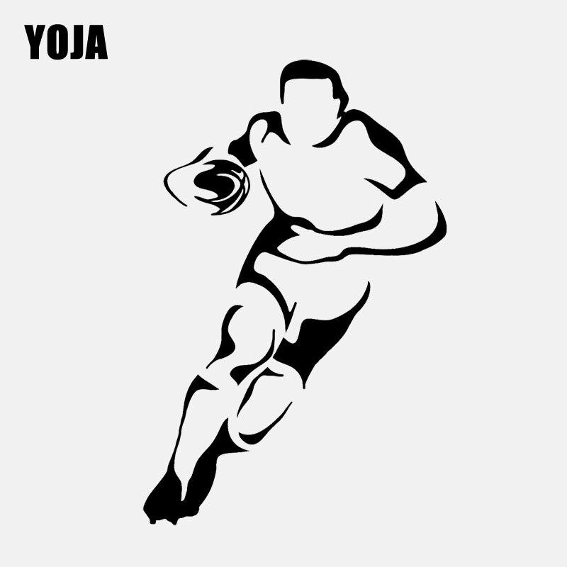YOJA 42,4 CM * 65CM de moda interesante fútbol Etiqueta de PVC de pared niños Rugby fútbol cocina y gimnasio W2-067
