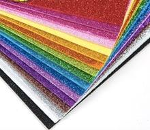 Feuilles de papier en mousse scintillante   10 feuilles de papier en mousse scintillante pour enfants, activités artisanales, bricolage, Flash de papier artisanal en or