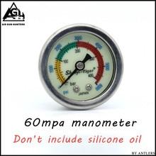 Ручной насос для пейнтбола PCP Манометр высокого давления 40mpa/400bar/6000psi 1,5 дюйма 40 мм Диаметр M10 * 1 нить