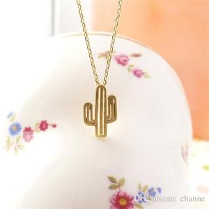 ZMZ 50pcs/lot 2018 Europe/US fashion minimalist cute girls Charm Jewelry Desert Plant Cactus Pendant Necklace