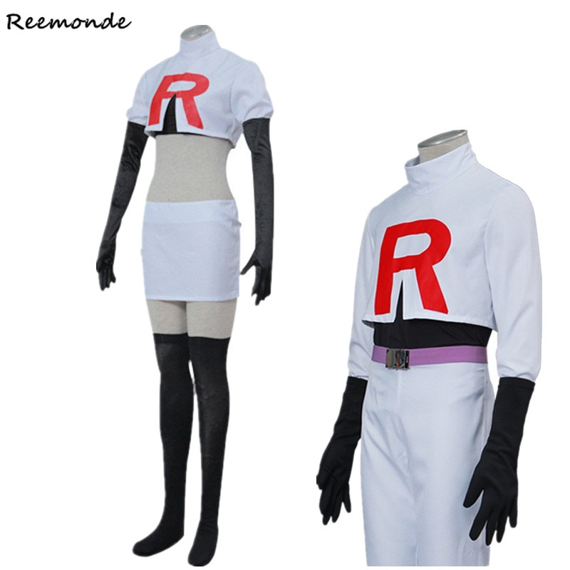 Anime Ash Ketchum Jessie T shirt Skirt Cosplay Costumes Pocket James Shirt Hats Caps Full Set Uniform Boys Girls Clothes