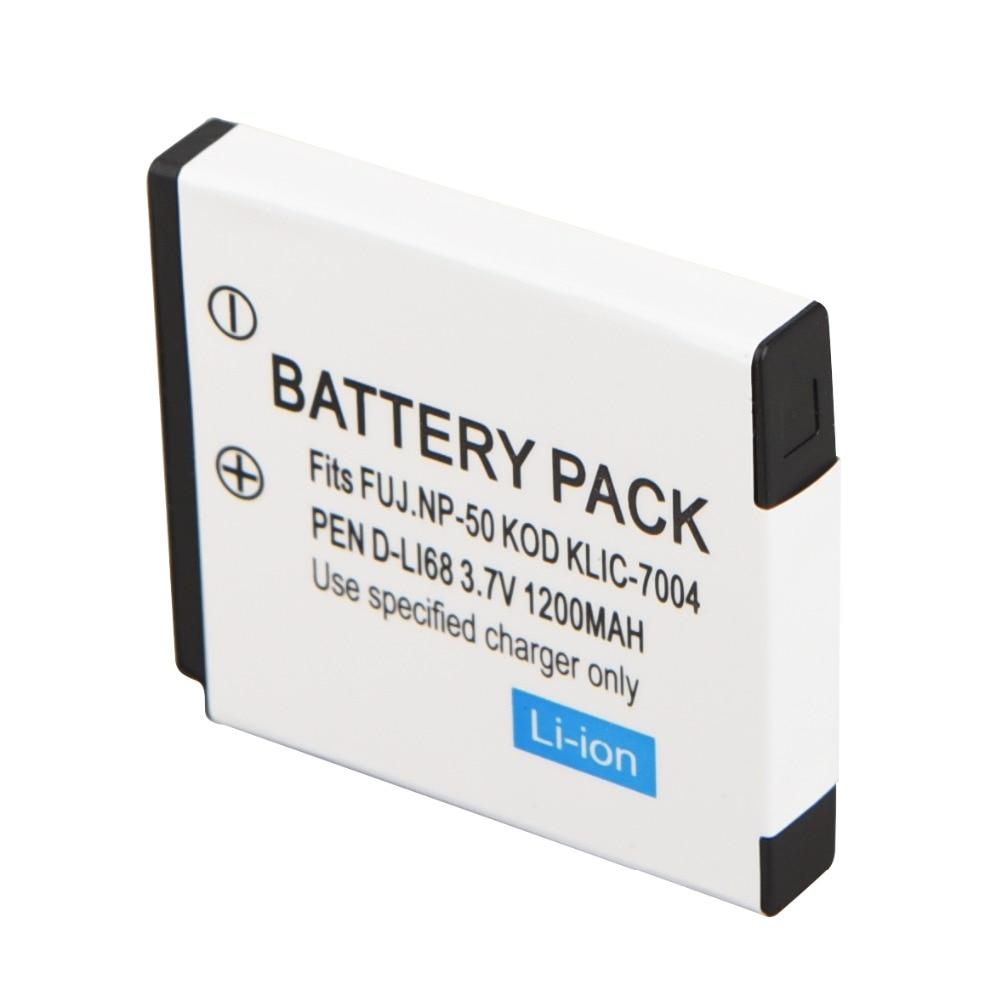 1200 мАч NP-50 KLIC-7004 аккумуляторная батарея для камеры FUJIFILM FinePix KODAK EasyShare PENTAX Optio S12 Backup Bateria
