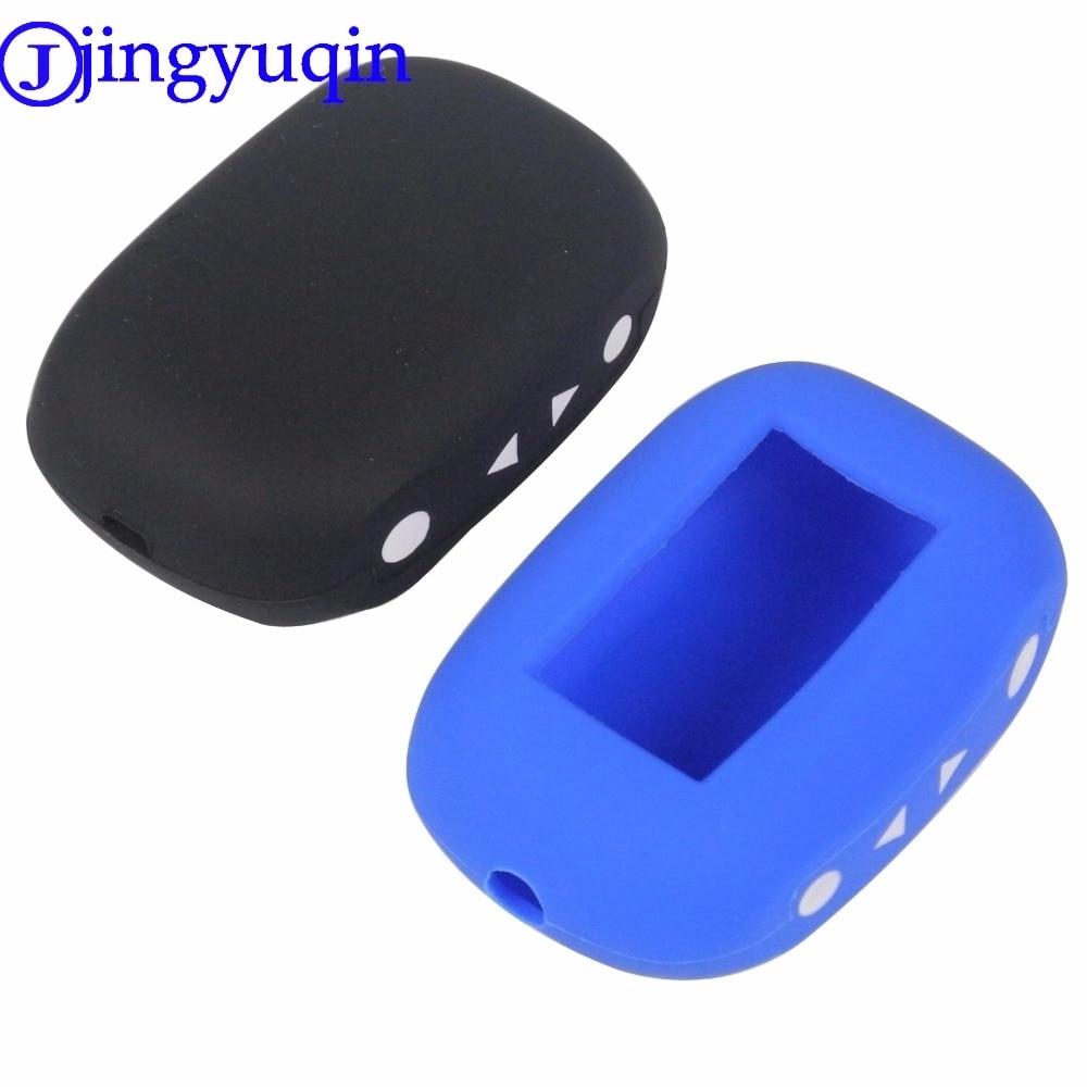 Jingyuqin versão russa b92 remoto silicone caso capa para starline b92/b93/b94/b62/b64 lcd remoto em dois sentidos sistema de alarme do carro