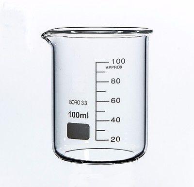 100 мл низкоформенный стакан из боросиликатного стекла для химической лаборатории прозрачный стакан утолщенный с носиком