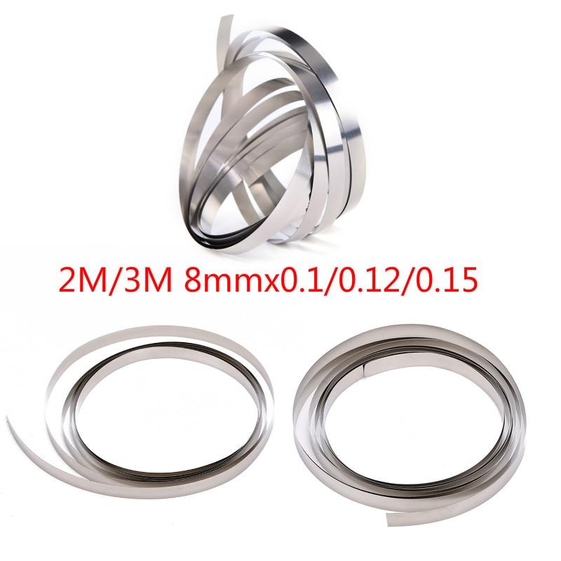 2M/3M 8mmx0.1/0.12/0.15 Nickel Plated Strip Tape For Li 18650 Battery Spot Welding Compatible For Spot Welder Machine