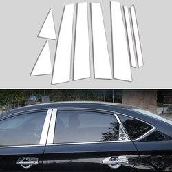 Apto para 2013 2014 2015 2016 2017 nissan sentra pilar da janela do carro post capa guarnição acento cromo estilo adesivo acessórios