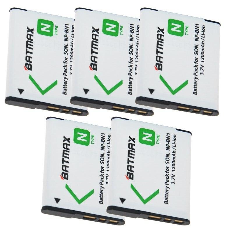 5 шт. NP-BN1 NP BN1 NPBN1 батареи (1200 мАч) для Sony Cyber-Shot DSC S750 DSC S780 W630 TX5 W310 T99 оптовая продажа
