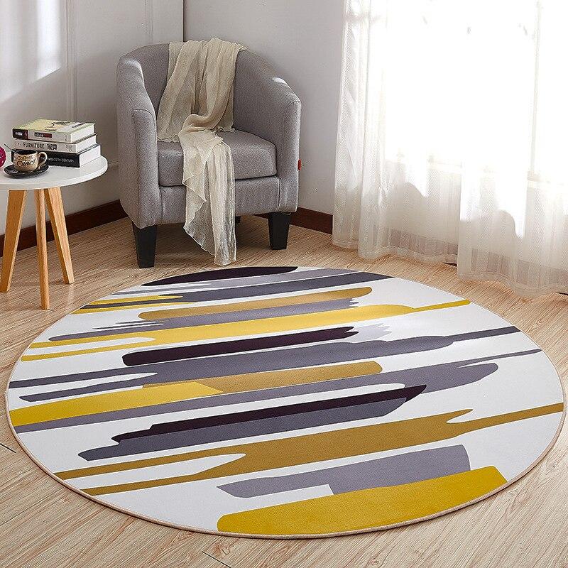 Alfombra redonda, alfombra para puerta, alfombras modernas para sala de estar, alfombra, alfombra antideslizante para dormitorio, alfombra, Tapete para el hogar, textil