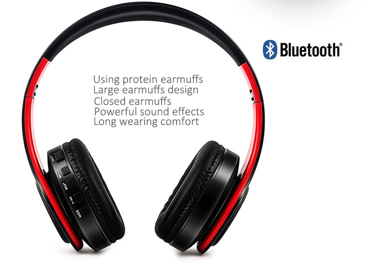 Słuchawki Bluetooth Headset słuchawki Bezprzewodowe Słuchawki Stereo Składany Sport Słuchawki Mikrofon słuchawki Tryb Głośnomówiący odtwarzacz MP3 5