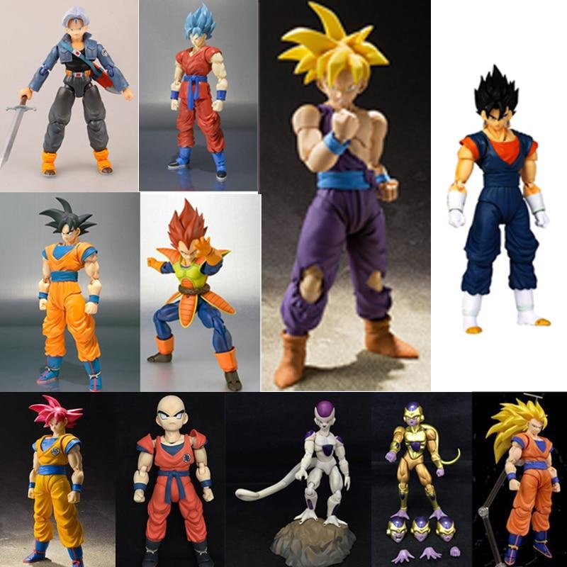 Экшн-фигурки из ПВХ Can трансформация Dragon Ball Z Super Saiyan God Rose go Goku Vegetto Vegeta