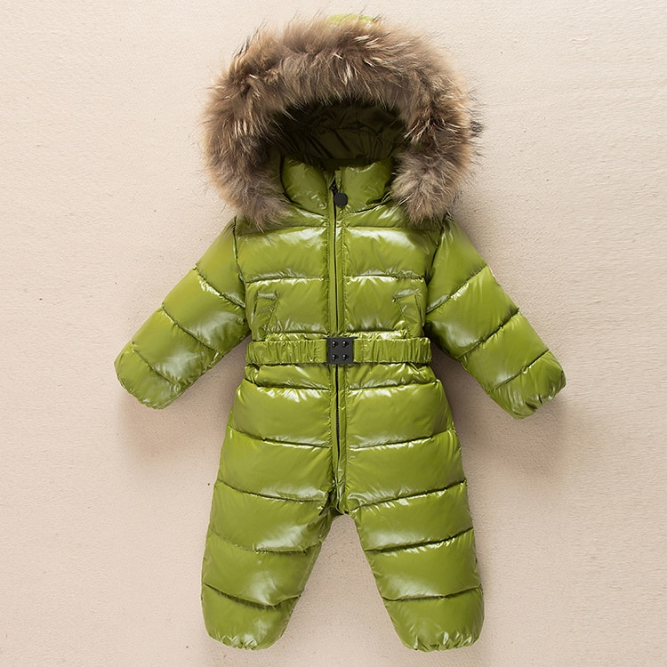 Baby down jacket double open zipper bodice baby onesies boys and girls down out climbing romper thickening