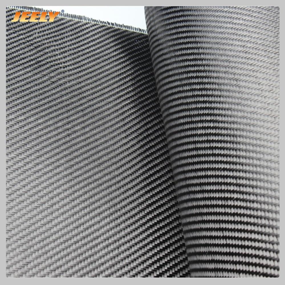 Jeely 3K 2/2 de fibra de carbono de 45 grados tejido de sarga 200g/m2 0,28mm de espesor tela de carbono para coche Spoiler 1m de ancho