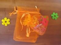 1000pcs 1520cm orange organza gift bag jewelry packaging display bags drawstring pouch for braceletsnecklacewed yarn bag