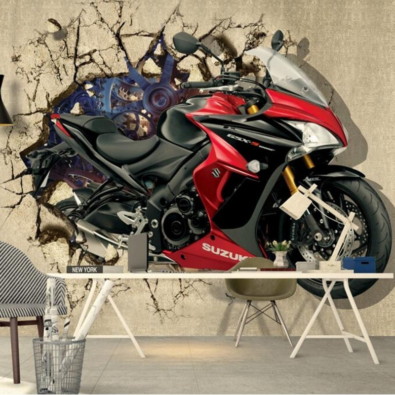 Papel pintado personalizado Beibehang cualquier tamaño foto motocicleta 3 d Pared de TV mural papel tapiz decoración del hogar papel tapiz 3d