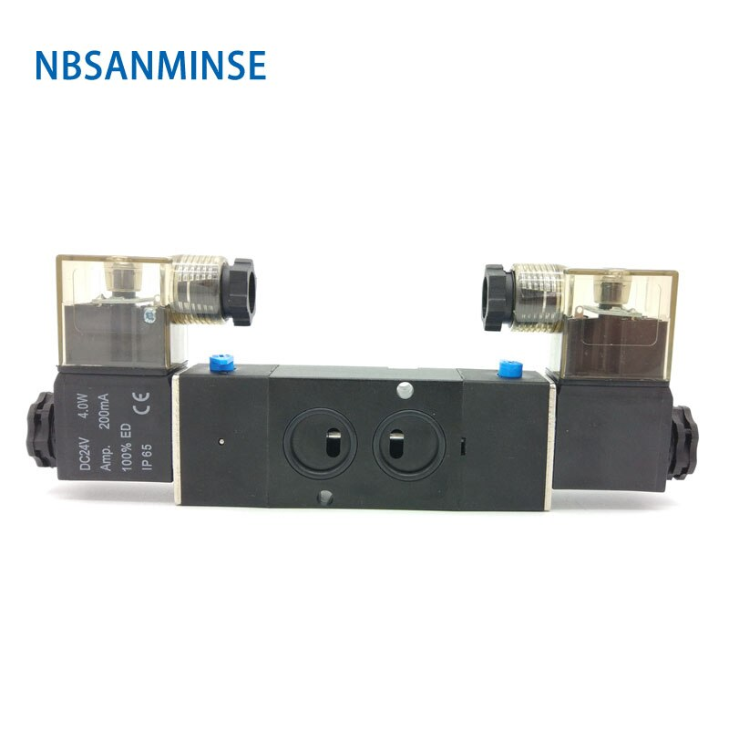 pneumatic solenoid valves 4v310 4v330 air exhaust manifold 300m valve plate base manifold with accessories NBSANMINSE 4M210 4M220 4M230 G1/4 Manifold Solenoid Valve 0.15-0.8Mpa 2/5 3/5 Single Double Coil Pneumatic Air Valve