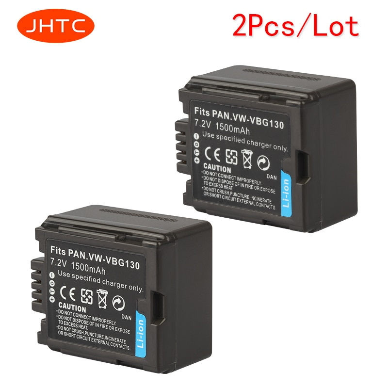JHTC 1500mAh аккумулятор камеры для Panasonic VW-VBG070 VW-VBG130 VW-VBG260 SDR-H20 SDR-H28 SDR-H258 2 шт